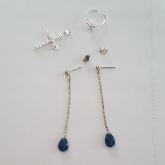 925 silver jewelry lot bundle
